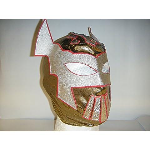 Sin Cara, colore: oro, con chiusura a zip per bambini maschera wrestling