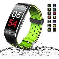 Pulsera Actividad, Fitness Tracker, Rastreador de Actividad de Pantalla Colorida con Monitor de Ritmo Cardíaco,Smart Podómetro,SMS/SNS Alerta,Calorías Contador de Pasos, para iOS y Android
