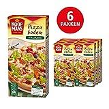 Koopmans Pizzabodem mix (6x 450g multipack), mix geschikt voor 1 plaatpizza of 2 ronde pizza's
