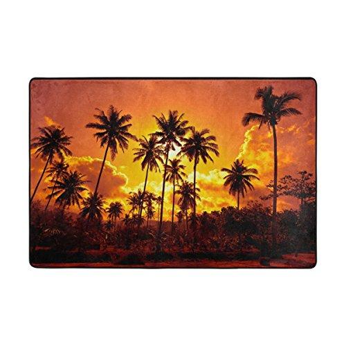 Fuß Palm Tree (ingbags Palm Tree Sunset Wohnzimmer Essbereich Teppiche 3x 2Füße Bed Room Teppiche Büro Teppiche Moderner Boden Teppich Teppiche Home Decor, multi, 6 x 4 Feet)