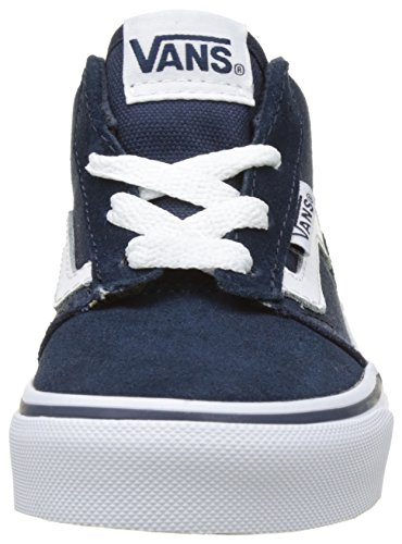 Vans Yt Chapman Mid, Scarpe da Ginnastica Alte Bambino Blu (Dress Blues/whitesuede/canvas)