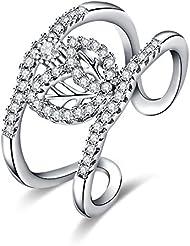 Fashion Popular anillo, Platinum Plated, Ajustable
