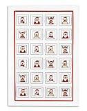 Baumwoll Geschirrtuch, TRIOLINO®, Druck Lustige Weihnachtsmänner, ca 45/70 cm