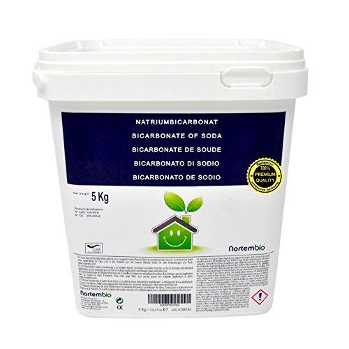 Bicarbonato di sodio 5Kg, Input per la Produzione ecologica, Qualità Premium, naturale pura 100%. Nortembio. Sviluppato in Italia.
