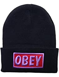 Adjustable Obey Snapback Knit Cap for Unisex One Size – Gorro de lana para hombre