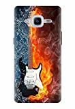 Noise Designer Printed Case/Cover for Samsung Galaxy J2 Pro - 6 (New 2016 Edition) / Patterns & Ethnic/Guitar Fire Design