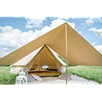 tenty.co.uk 360 x 240cm AWNING 100% Cotton Canvas Suitable for 3m 4m 5m 6m Bell Tent Available in Sand or Grey