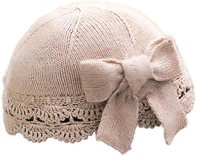 HBGVCDES Cappello Autunno e Inverno Cappello a Lavorato a Cappello Maglia  Cappello Casual Femminile Dolce Carino Arco Berretto... Parent 1d7f57 8914a24b650d