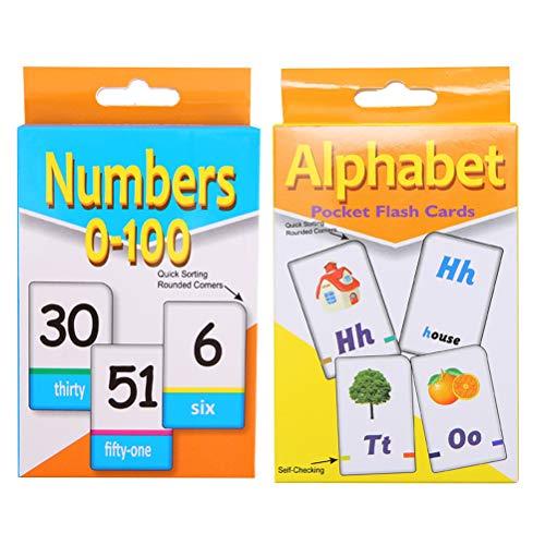 pädagogischen Flash Cards Englisch Kartenset für Kleinkind Kinder Kinder Früherziehung ()