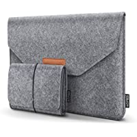 HOMIEE Funda Protectora de Fieltro para portátiles de 33-33.5 cm MacBook Pro Retina, MacBook Air, iPad Pro 32.5 cm, DELL/Lenovo/HP/Chormebook Ultra Slim Notebook, Gris Claro