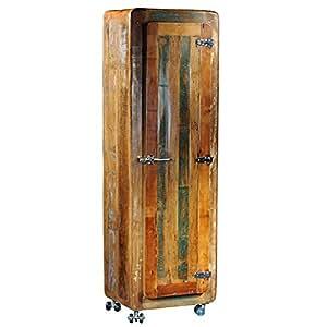 schrank cooler hochschrank holzschrank kleiderschrank schlafzimmer rollbar k che. Black Bedroom Furniture Sets. Home Design Ideas