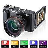 Camara Fotos Full HD 1080P,FamBrow Camara de Video WiFi 24MP Digital Zoom 16x,Gran Angular Lente Rotación de 3.0 Pulgadas