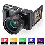 Camara Fotos Full HD 1080P,FamBrow Camara de Video WiFi 24MP Digital Zoom 16x,Gran...