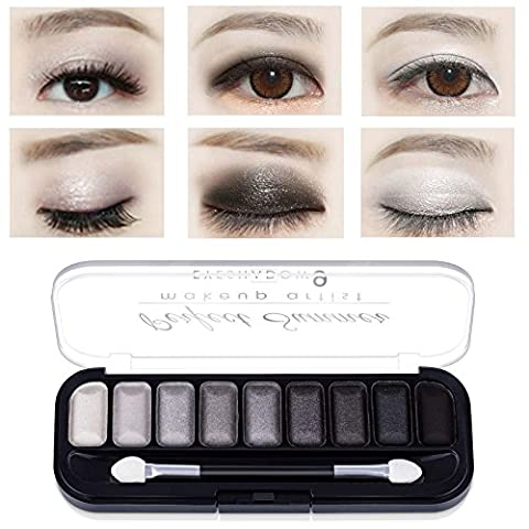 Perfect Summer 9 Colors Makeup Eyeshadow Palette Glitter Smokey Eye Shadow Kit #004, 7.2g