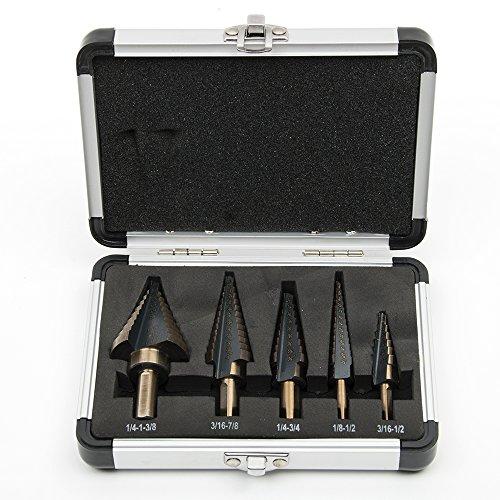 hakkin-5-pcs-foret-etage-hss-titanium-drill-echelle-triange-conique-outil-cutter-trou-set-avec-etui-