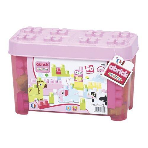 Smoby Caja 50 Piezas abrick Animales Rosa (7780)