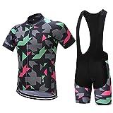 Costume de Cyclisme Costume à Manches Courtes pour Hommes Cyclisme Sweat-Shirt Et Collants à lanière Respirant La Transpiration Séchage Rapide
