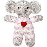 Spiegelburg 13969 Häkel-Rassel Elefant BabyGlück, rosa