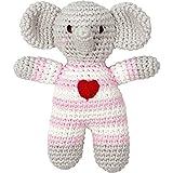 Sonajero Elefante de Ganchillo Rosa Serie BabyGlück de Spiegelburg