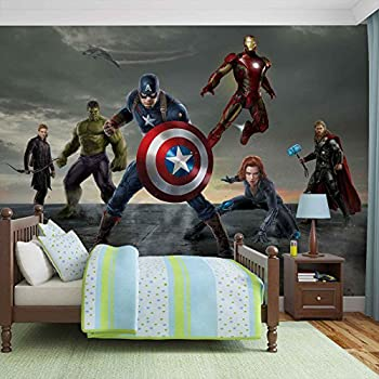 Marvel Avengers Formation   Photo Wallpaper   Wall Mural   Giant Wall  Poster   XL   254cm X 184cm   Standard Paper (NOT EasyInstall)   2 Pieces