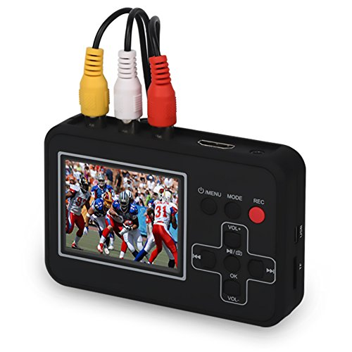 Digital convertisseur VHS Cassettes vers numérique capturez vidéo de VHS/Cassettes, Hi8 CamCorder DVD DVR TvBOX Gaming Numérisez des bandes vidéos sur la carte micro SD depuis le magnétosc