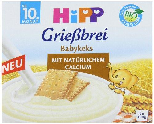 HiPP Grießbrei Babykeks, 12er Pack (12 x 400 g)