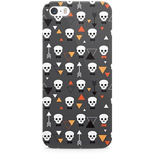Queen Of Cases Coque pour Apple iPhone 5S Motif géométrique Motif crânes-Premium en plastique gris