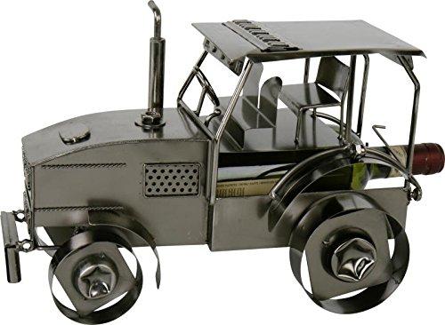 Flaschenhalter Traktor in eisenoptik - handgefertigt -