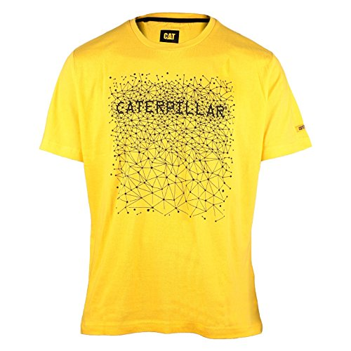 Caterpillar Junction 2510629 Herren T-Shirt mit Aufdruck, Kurzarm Schwarz