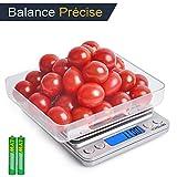 VOMELON Balance de Cuisine, Balance de Précision, 3kg/0.1g Balance Alimentaire, Balance de Poche,...