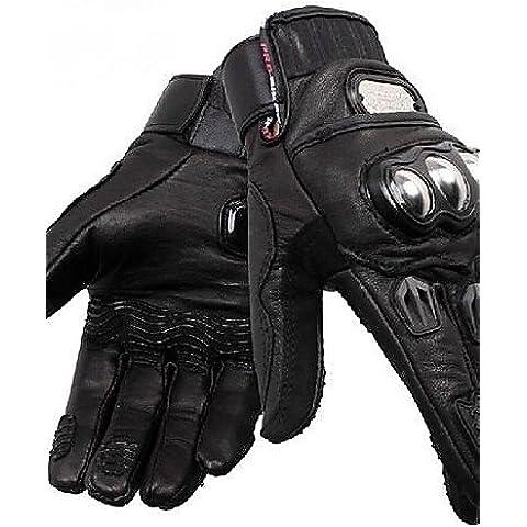 DZXGJ® pro-ciclista de invierno de alta calidad caliente guante protector bicicleta de carreras dedo completo (cuero de oveja) , black-xl ,