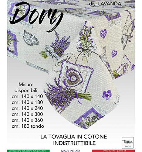 tex family Nappe Dory Provençale Lavande Lilas - 140 x 140 x 4 Personnes