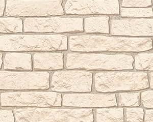 A.S. Création Papier peint Dekora Natur beige 10,05 m x 0,53 m 911537
