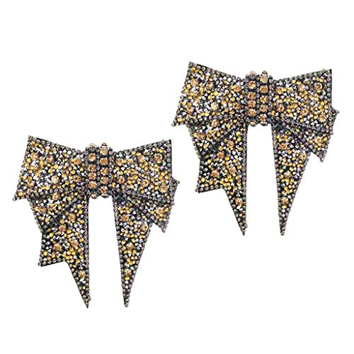 B Baosity Crystal Rhinestone Shoe Applique Bowknot Boots Shoe Charm Wedding Accessories - Shining and Durable