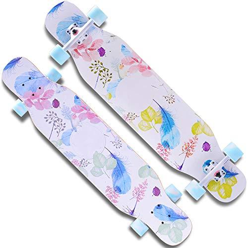 Kinderskateboards/Skateboard Kinder ab 5 Jahre,Stabilen Deck,Retro,Verschiedene Designs,Hohe Qualit,Geschenk FüR Erwachsene Jugendliche Kinder Jungen,White -