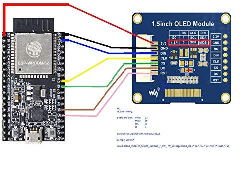 MakerHawk I2C OLED Display Module 1 5inch OLED Module with 128x128