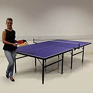 Blue Table Tennis Table Professional Tournament Full Size Indoor Outdoor Review 2018 by Beauty4Less