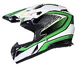 Casque de MOTOCROSS Moto Helm Enduro Quad ATV FMX MTB MX - Vert - S (55-56cm)