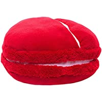 ChezMax New Fashion Style multifunzione USB a forma di cerchio Macaron riscaldato peluche piede Warmer Scaldamani Macaron Cuscino per ragazze donne in freddo inverno, Bingo Cherry, Foot Warmer-Kettle(Random Color)