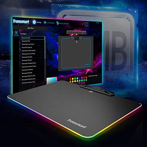 Tronsmart RGB Alfombrilla Ratón Juego Gaming 385mm