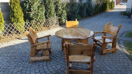 Tavoli Da Giardino In Legno Massiccio.Mobili Da Giardino In Legno Massiccio Rustico Tavolo E Sedie Da