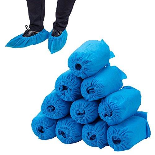 100PCS Home Einweg Schuh Cover –, rutschhemmenden und Beständigkeit für Arbeitsplatz, Medical, innen- oder Auto Teppich Boden Schutz