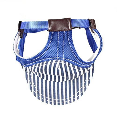 UEETEK Perro Gorra Visera Sombrero Deportivo Gorra de Béisbol con Agujeros para Los Oídos - Tamaño S (Azul)