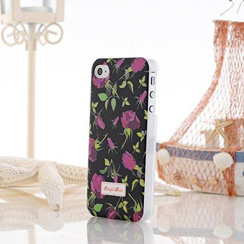 iPhone Case Cover Farbe Malerei Kleine Blumen-harten Plastikkasten-Abdeckung für iPhone 4 4S ( Color : 9 ) 14