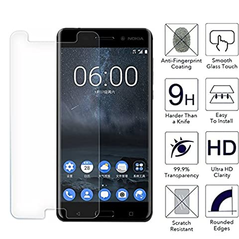 Nokia 3 Screen Protector, Nokia 3 Tempered Glass Screen Protector, [9H Hardness] [Anti Scratch] [Shatter Proof] [ Easy Installation] by Ample®