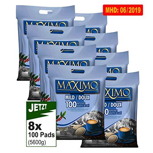 MAXIMO MILD Kaffeepads 8x 100 Pads (5600g) - Aromatisch, Mild