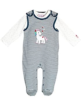 SALT AND PEPPER Baby-Mädchen Strampler BG Playsuit Stripe Einhorn Ocs