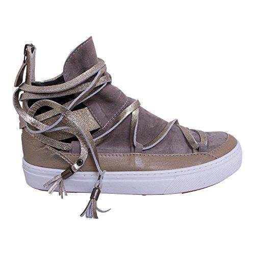 IKKII Damen Malik Sneaker High, 40 EU Beige
