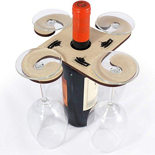Azeeda 'Verankertes Boot' Weinglashalter / Flaschenhalter (GH00026762)