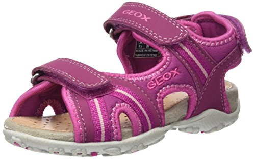 Geox Roxanne A, Sandales Bout Ouvert Fille Rose (Dk Fuchsiac8321)